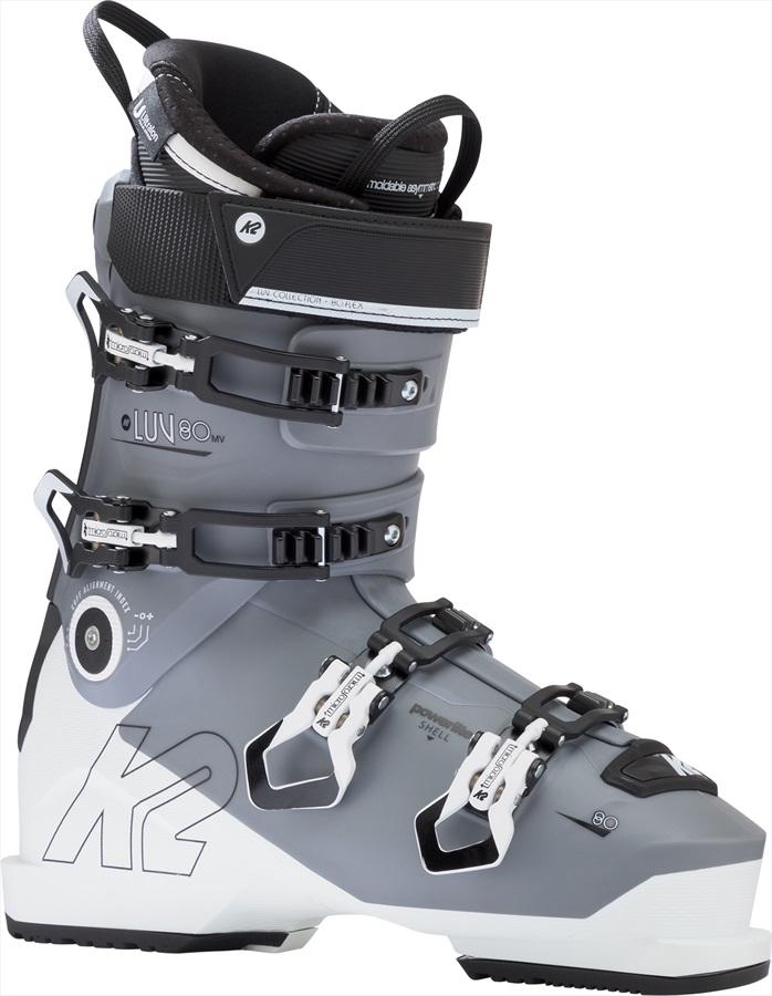 K2 Luv 80 LV Womens Ski Boots, 23/23.5 White/Grey 2019