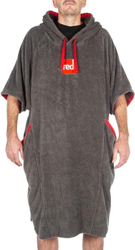 Red Original Luxury Towelling Change Robe Dressing Dry Towel, M Grey