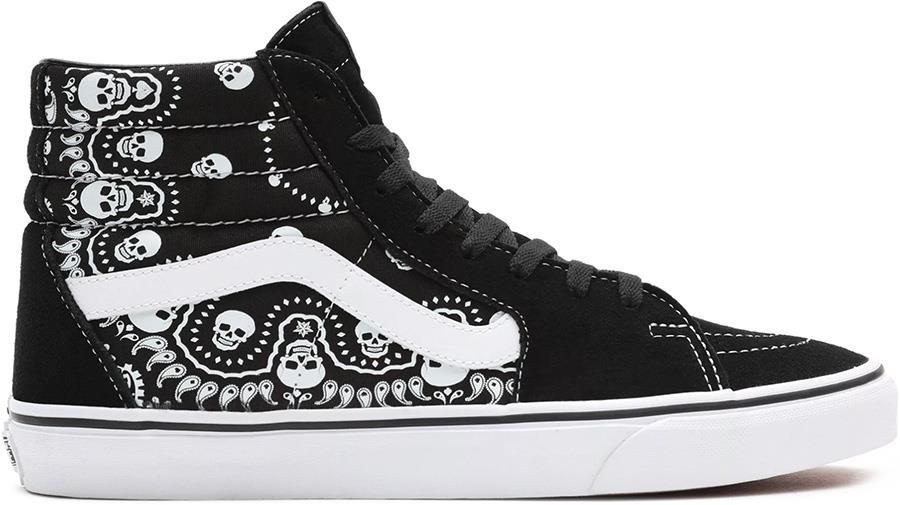 Vans Sk8-Hi Skate Trainers/Shoes, UK 7 Bandana Black/True White