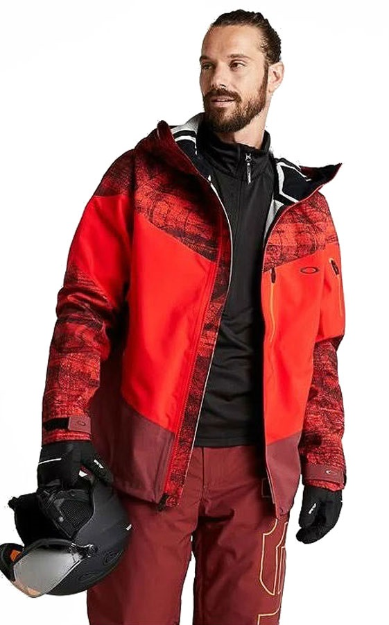 Oakley Timber 2.0 3L 15K Shell Ski/Snowboard Jacket, M Fired Forest