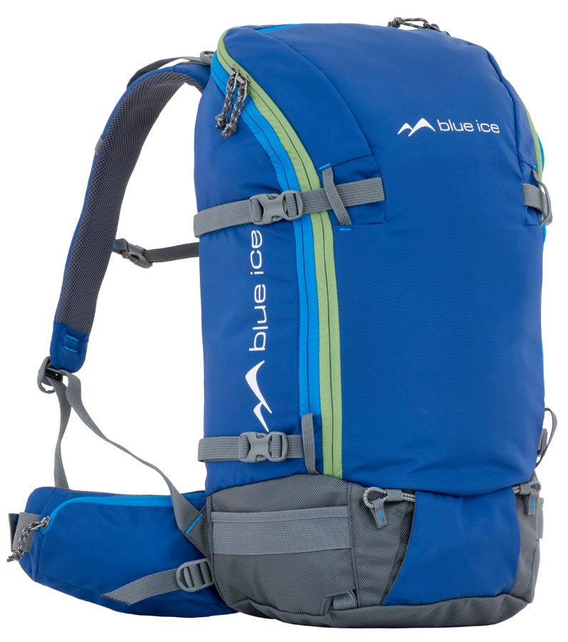 Blue Ice White Tiger Backpack Mountaineering Pack, 35L Blue