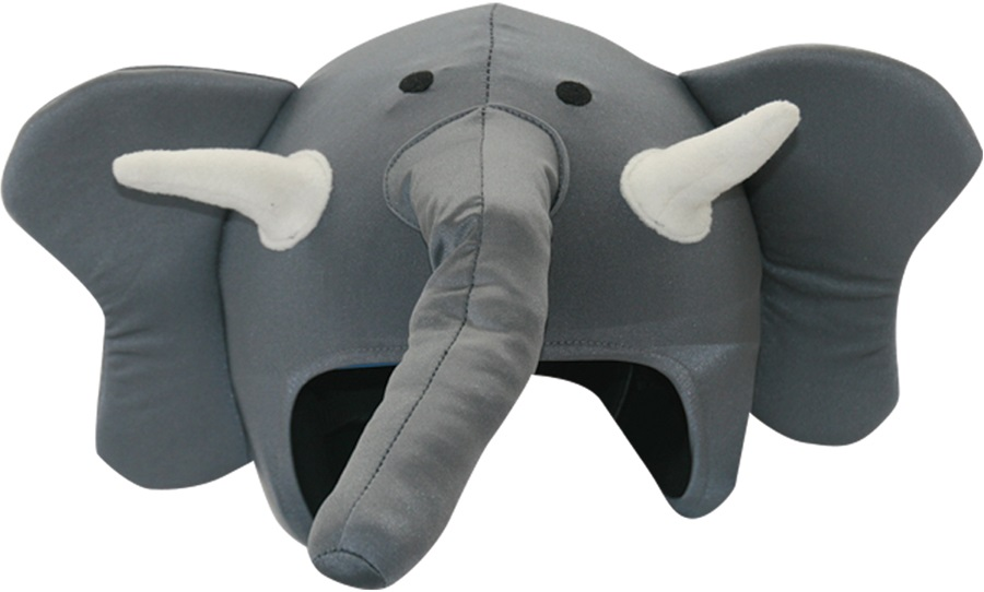 Coolcasc Animals Ski/Snowboard Helmet Cover, One Size, Elephant