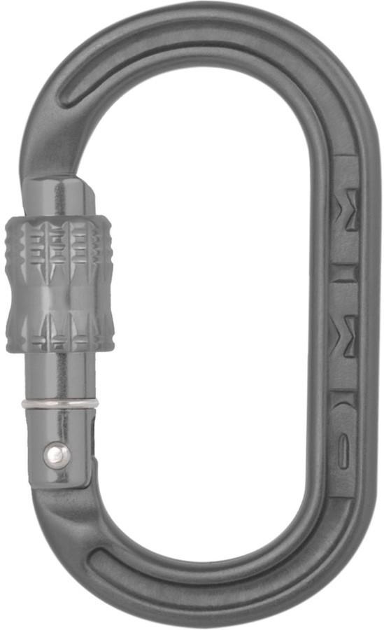 DMM XSRE Lock Screwgate Rock Climbing Carabiner 35 x 57mm Matte Grey