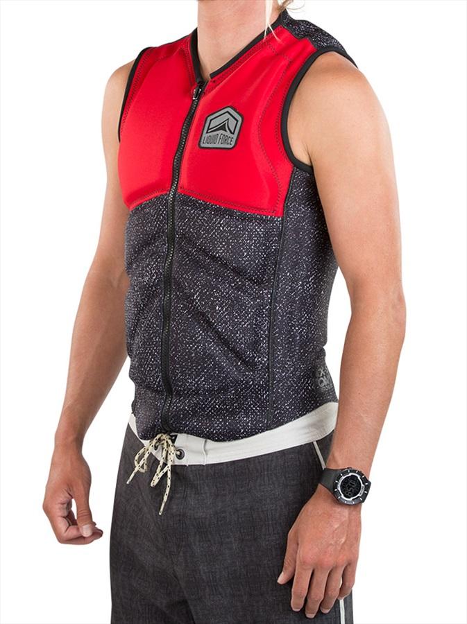 Liquid Force Z Cardigan Zip Wakeboard Impact Vest, S Red