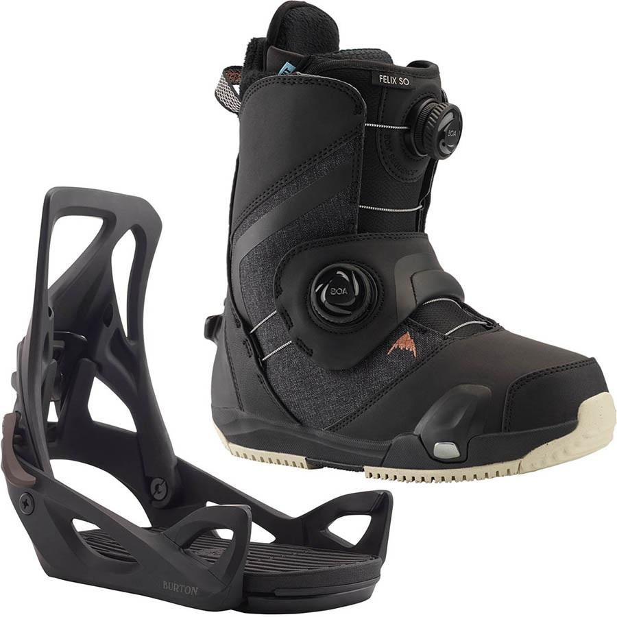 Burton Felix Step On Womens Snowboard Binding & Boots, UK 5.5 2021