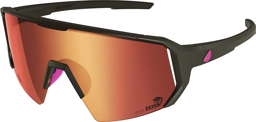 Melon Adult Unisex Alleycat Red Chrome Performace Sunglasses, M/L Black/Neon Pink
