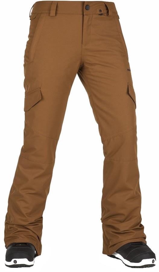 Volcom Bridger Insulated Women's Snowboard/Ski Pants XS Copper