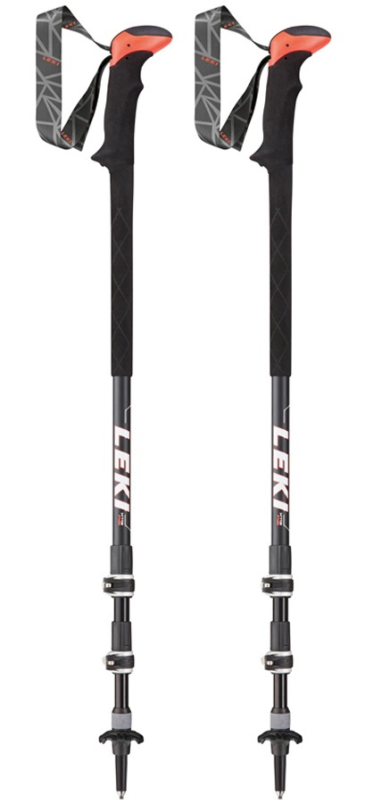 Leki Sherpa XTG AS Adjustable Trekking Poles, 110-145cm Black/White