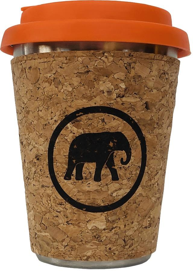 Elephant Box To-Go Cup Stainless Steel Reusable Cup, 350ml Orange