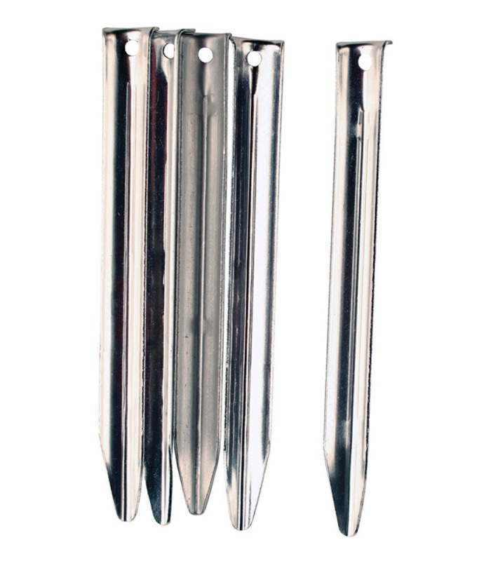 Vango Steel V Tent Peg Camping Stake, 5 Pack Silver 20cm