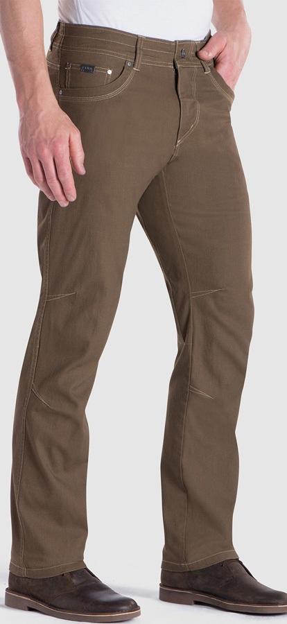 Kuhl Kanvus Jeans Regular Climbing Trousers, 34/32 Dark Khaki