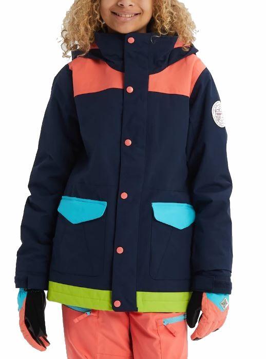 Burton Elstar Girl's Snowboard/Ski Jacket, M Dress Blue Multi