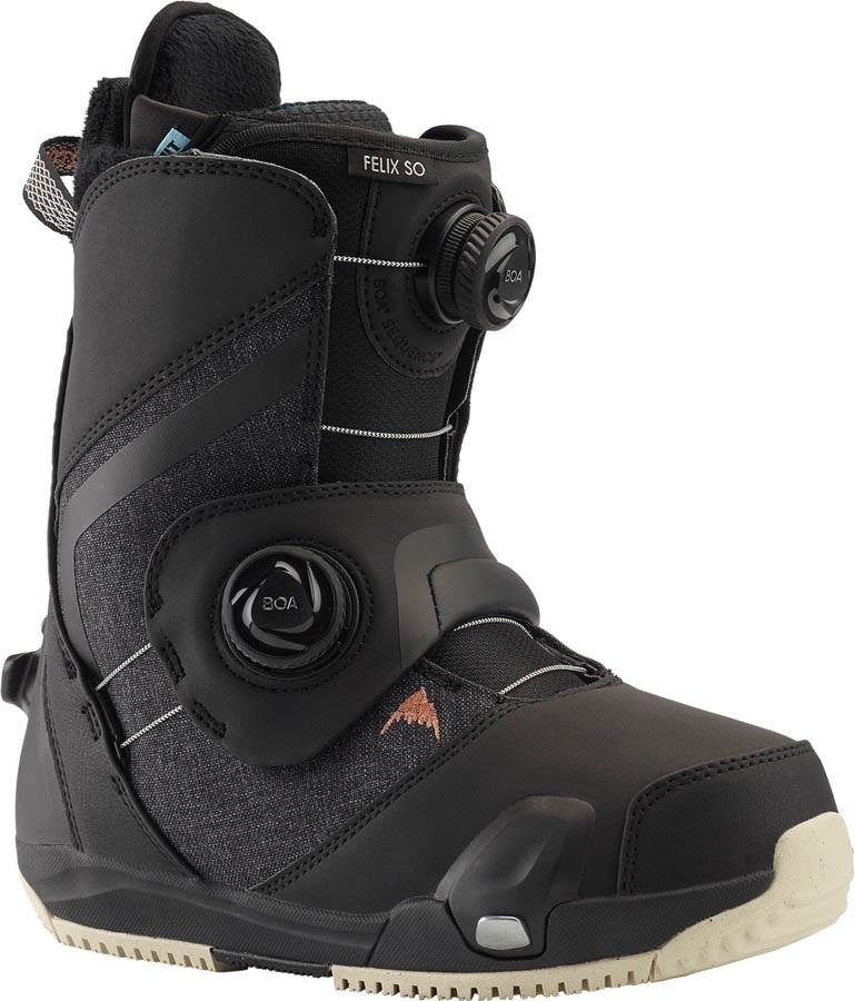 Burton Felix Step On Womens Snowboard Boots, UK 4.5 Black 2021