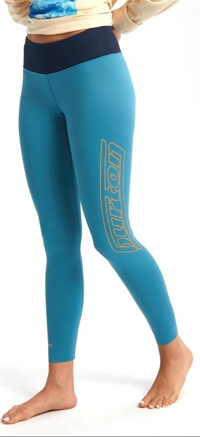 Burton Retro Midweight Pants Women's Base Layer Bottoms, S Storm Blue