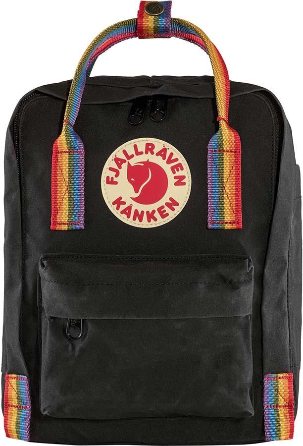 Fjallraven Kanken Mini Rainbow Daypack/Backpack, 7L Black