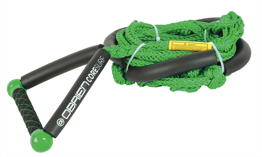 O'Brien Floating Core Wakesurf Rope and Handle, 24' Green