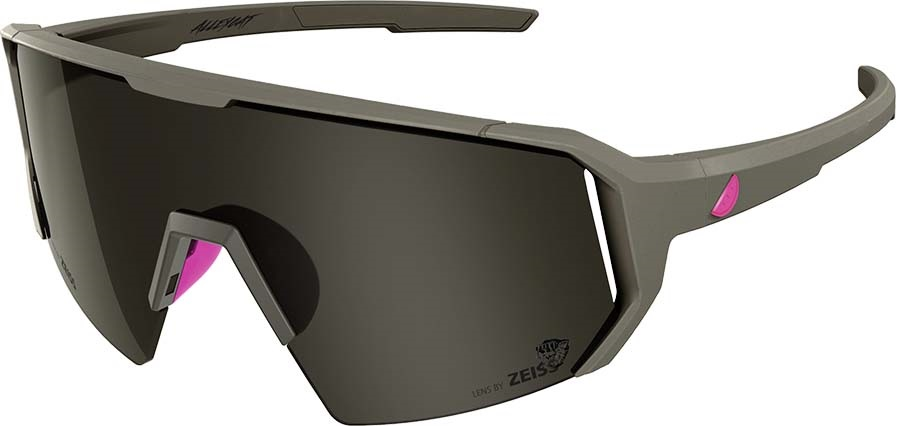Melon Adult Unisex Alleycat Smoke Performace Sunglasses, M/L Grey/Neon Pink