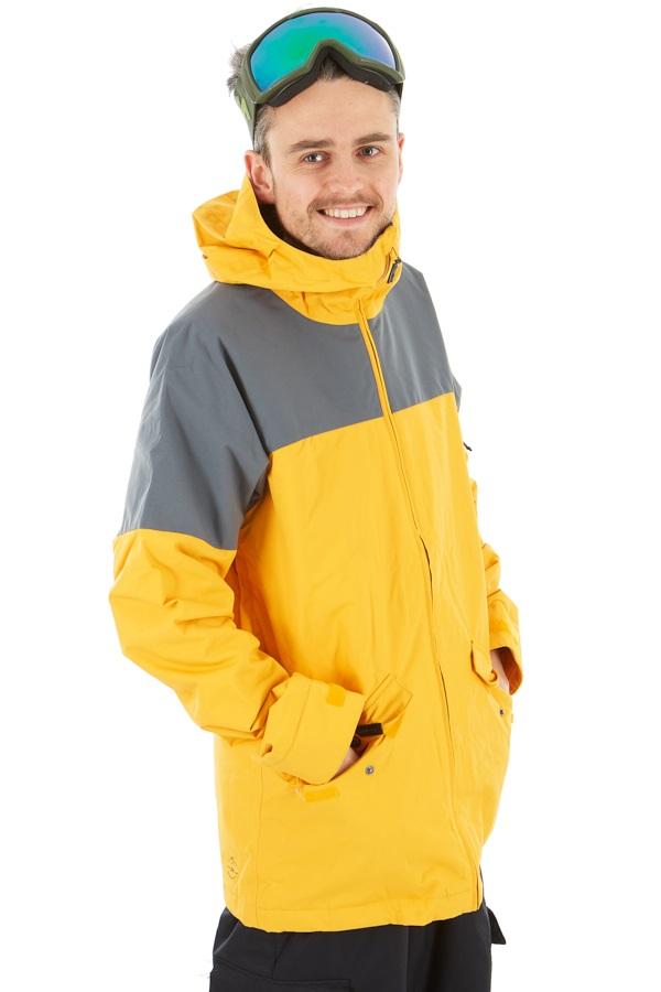Dakine Denison 2-Layer Insulated Ski/Snowboard Jacket, L Golden Glow