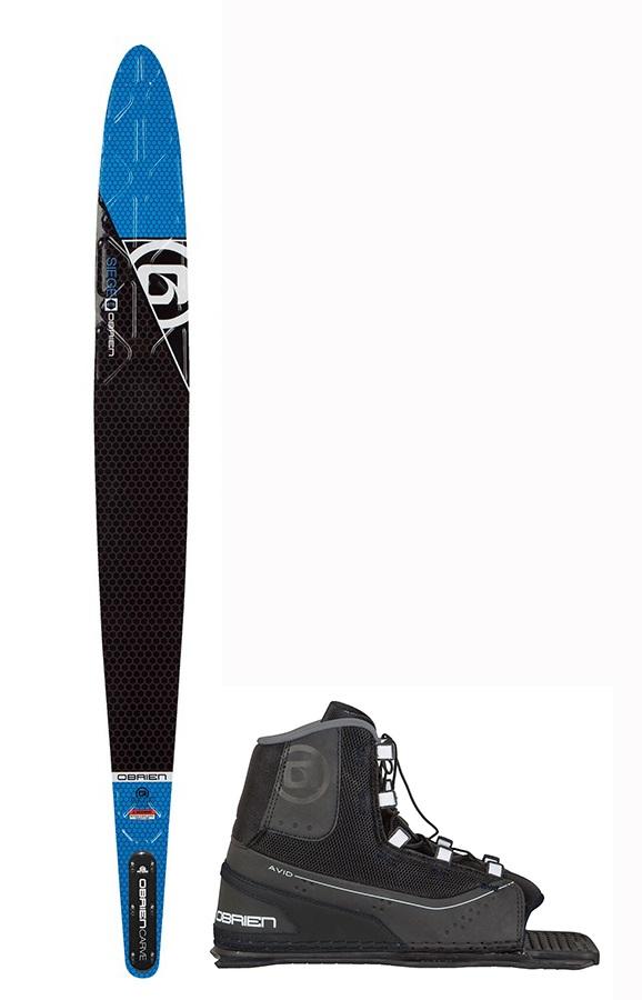"""O'Brien Siege Slalom Water Ski+Binding Package, 67.5""""   Avid Blue"""