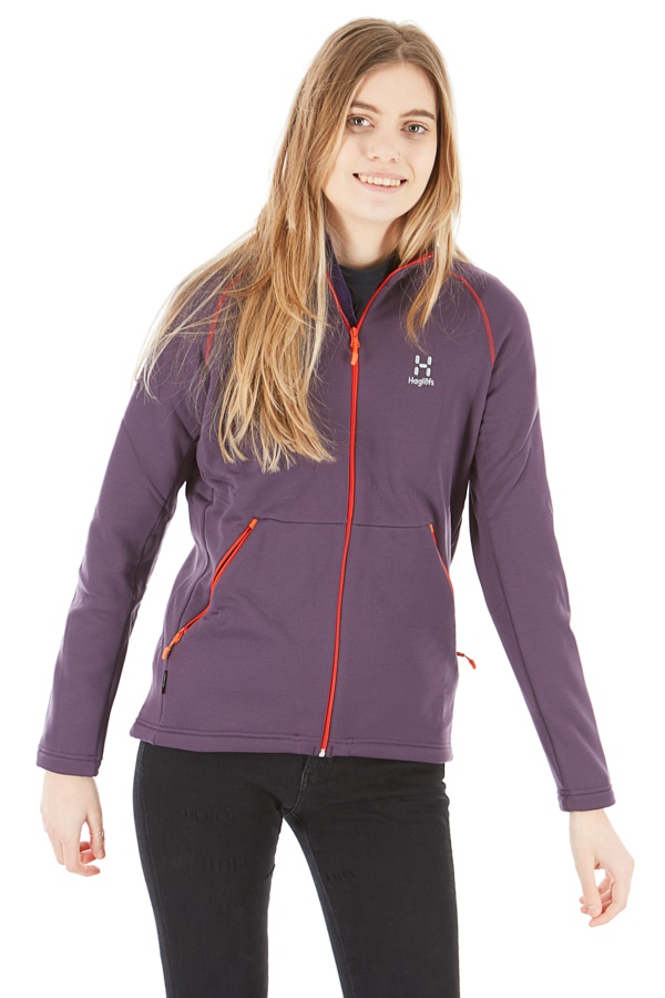 Haglofs Bungy Jacket Women's Fleece Midlayer, S Acai Berry
