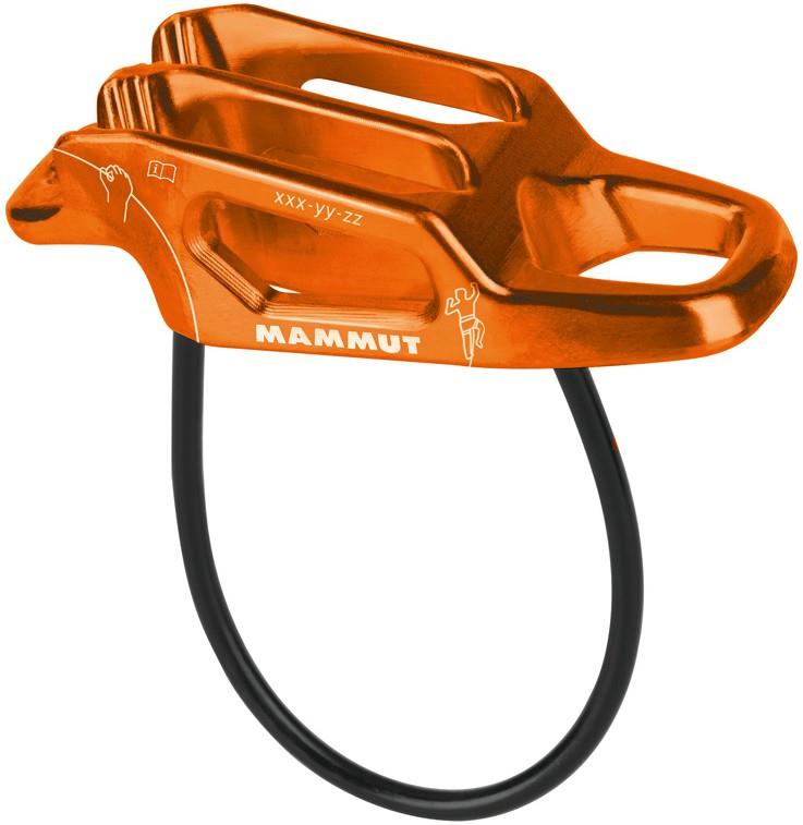 Mammut Wall Alpine Rock Climbing Belay Device Orange
