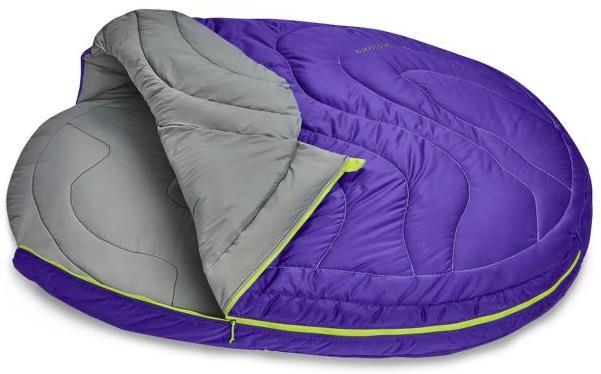 Ruffwear Highlands Sleeping Bag Pet/Dog Insulated Bed, Medium Blue