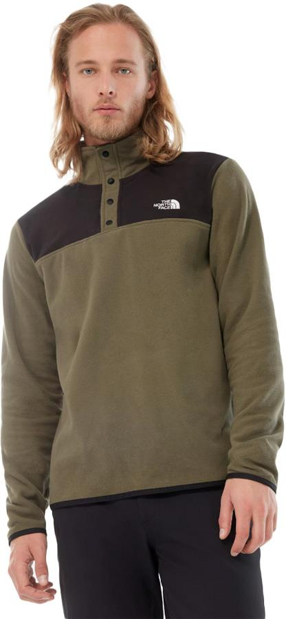 The North Face TKA Glacier Snap-Neck Pullover Fleece, S Taupe Green