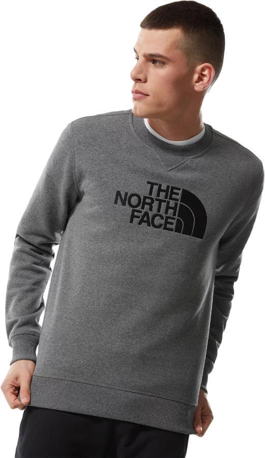 The North Face Drew Peak Crew Neck Pullover Sweater, S Grey Heather