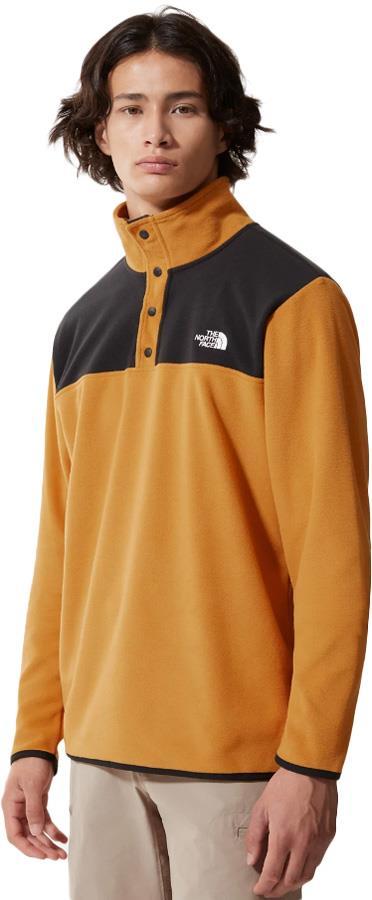 The North Face TKA Glacier Snap-Neck Pullover Fleece S Citrine Yellow
