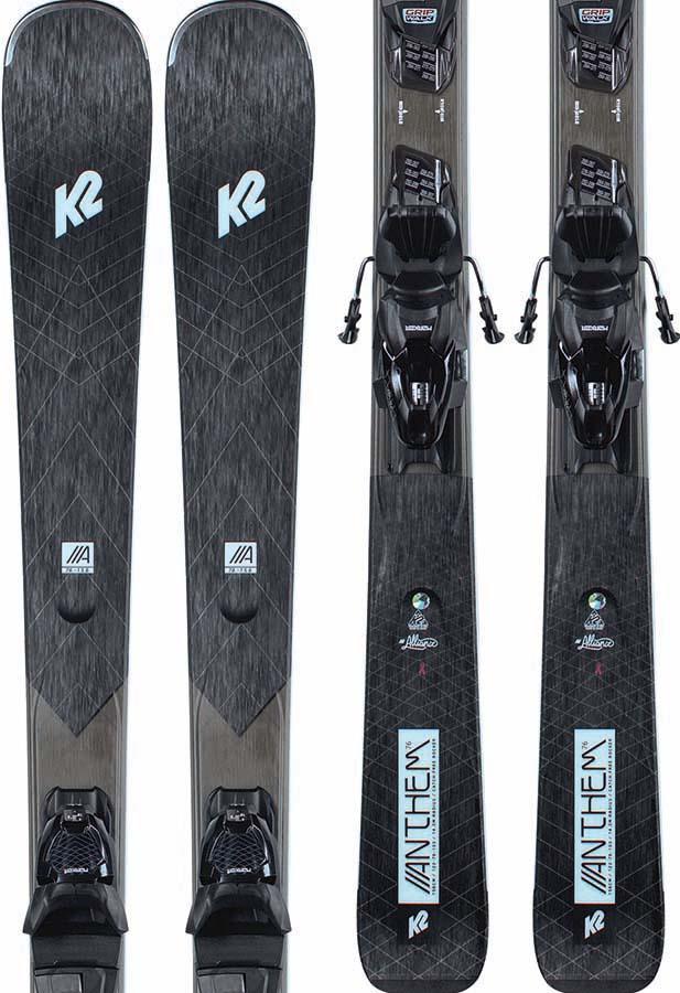 K2 Anthem 76 Marker ERP 10 Women's Skis, 156cm Black/Teal 2021