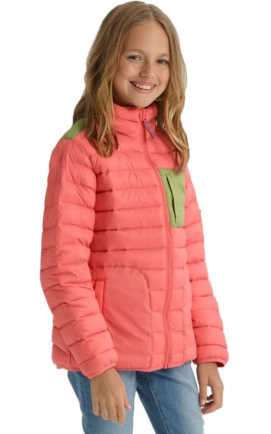 Burton Girls Evergreen Down Jacket, M Georgia Peach/Mosstone