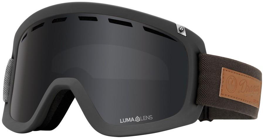 Dragon D1 OTG LumaLens Dark Smoke Snowboard/Ski Goggles, L Pumice