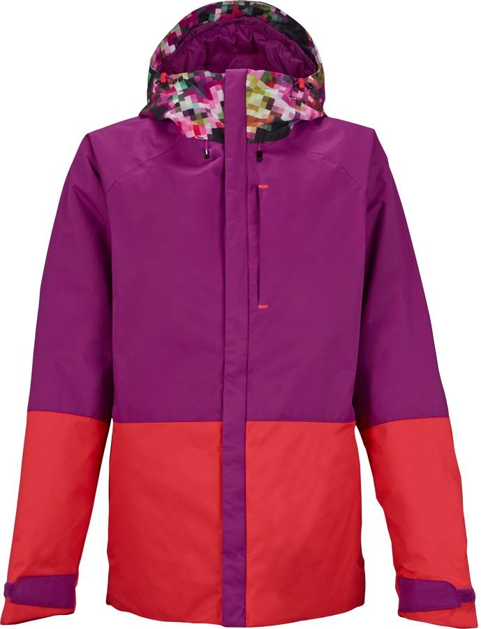 Burton Radar Women's Ski/Snowboard Jacket, L, Pixel/Grapeseed/Tropical