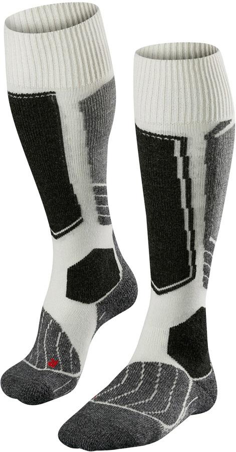 Falke SK1 Merino Wool Women's Ski Socks, UK 2.5-3.5 Offwhite