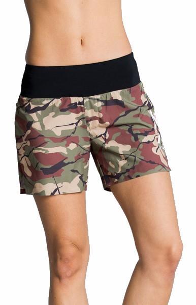Wearcolour Peak Women's Exercise Shorts, S Leaf