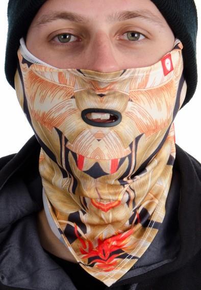 Airhole S3 Bandana Tie Up Snowboard/Ski Face Mask, One Size Kuma