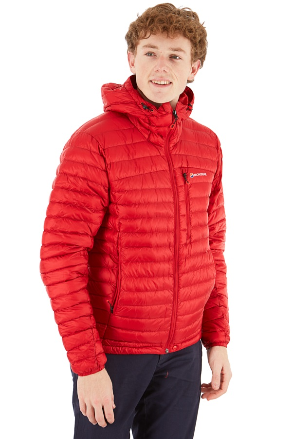 Montane Featherlite Rip-Stop Down Insulated Jacket, S Alpine Red