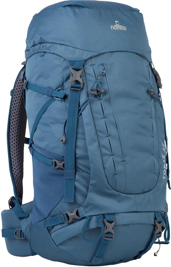 NOMAD® Adult Unisex Topaz 40 Backpack Trekking Pack, 40L Titanium