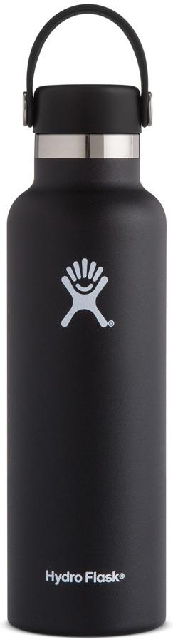 Hydro Flask 21oz Standard Mouth With Flex Cap Water Bottle, Black