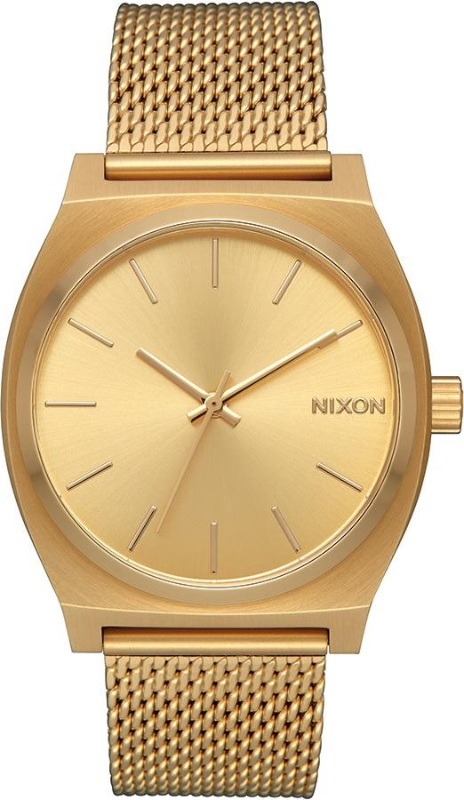 Nixon Time Teller Milanese Women's Watch, All Gold