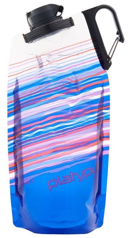 Platypus Duolock Softbottle Flexible Water Bottle Blue Skyline