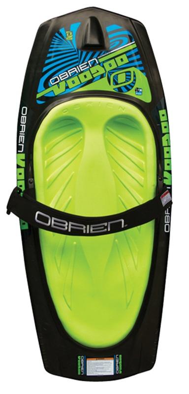O'Brien Voodoo Roto Moulded Kneeboard, Black Green 2021