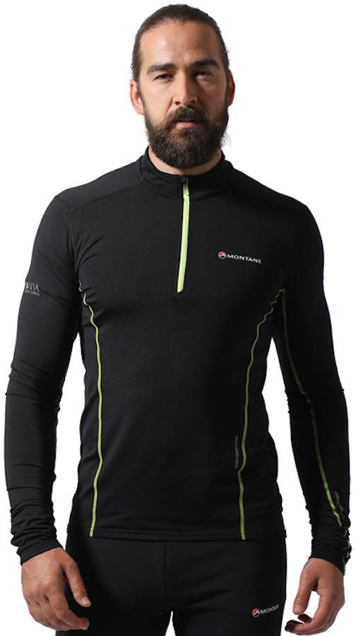 Montane Dragon Pull-On Men's Running Fleece/Top, S Black