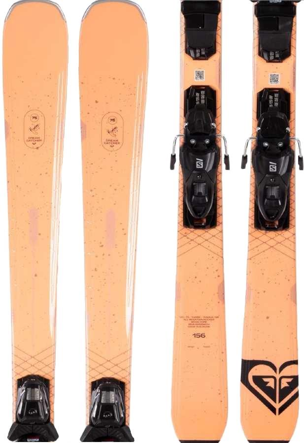 Roxy Dreamcatcher 75 M 10 Women's Skis, 156cm Peach 2021