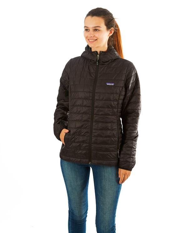 Patagonia Nano Puff Hoody Women's Insulated Jacket, UK 14 Black