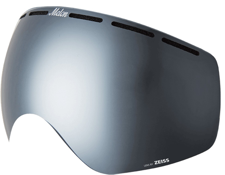 Melon Chief Ski/Snowboard Goggle Lens, One Size Silver Chrome
