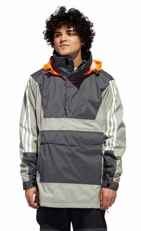 Adidas Anr10k Ski/Snowboard Jacket, S Grey/Orange