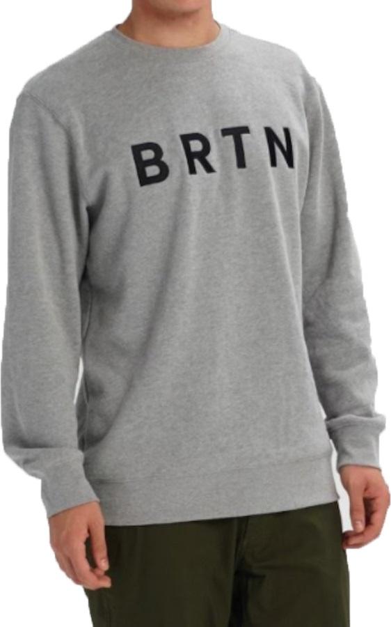 Burton BRTN Crew Pullover Sweatshirt, XS Grey Heather
