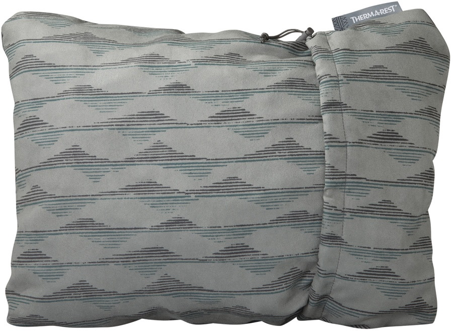 ThermaRest Compressible Travel Pillow Camping Pillow, XL Gray