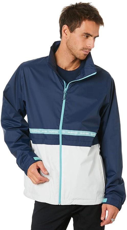 Burton Melter Waterproof Windbreaker Jacket L Dress Blue/Stout White